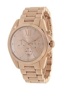 Relógio feminino Michael Kors Dourado com vidro cristal mineral