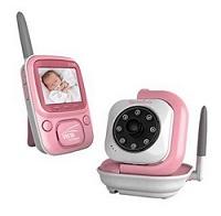 Babá eletrônica siga-me baby rosa com câmera sem fio em promoção