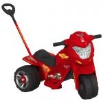 Comprar Mini Moto Elétrica vermelha infantil modelo Cars Passeio 2 em 1