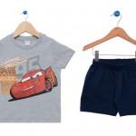Comprar Conjunto curto carros disney mescla e marinho tricae