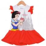 Vestido Branca De Neve Disney Branco e Vermelho