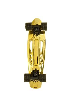 Skate Kronik Cruiser Goldchrome 23 polegadas Dourado