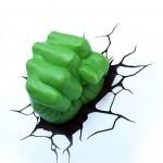 Arandela em 3D Punho do Hulk Verde Startec 1,5W