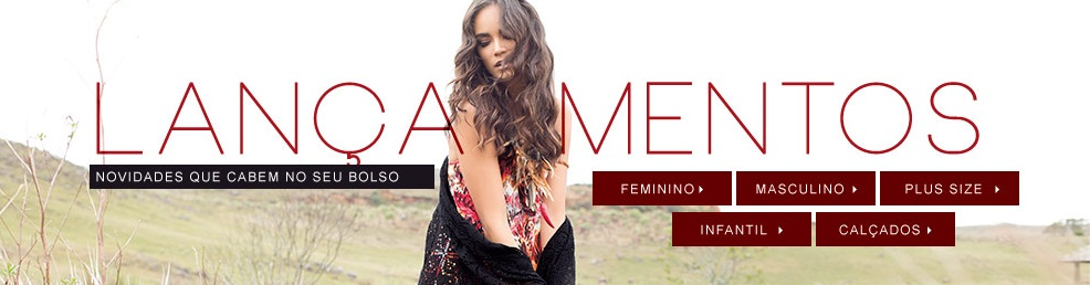 Lançamentos moda feminina e acessórios com preços especiais