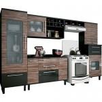 Comprar Cozinha completa modelo Palmeira Tamara 6 peças preto com café
