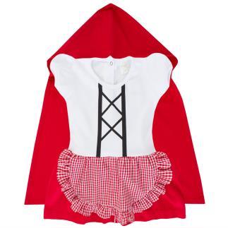 Vestido Body fantasia Chapeuzinho vermelho com capa
