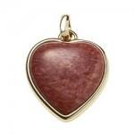 Comprar Pingente dourado coração amazonita feminino