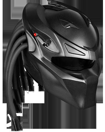 Capacete personalizado exclusivo Predator Berserker para motociclistas