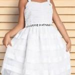 Vestido de crepe infantil Lilica Ripilica em manga regata