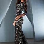 Comprar Vestido de noite longo com renda transparente