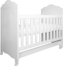 Berço infantil Mini Cama Nice Branco Fosco clássico