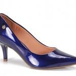 Scarpin Feminino Vizzano Verniz Azul em promoção
