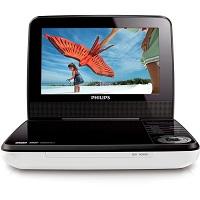 Dvd Player Portátil Philips tela LCD 7 polegadas - entrada USB - Sistema proteção antichoque