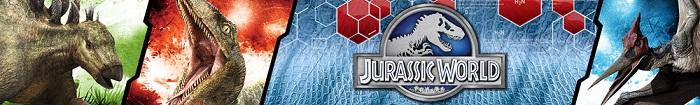 Brinquedos e cenários Jurassic Word