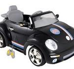 Mini veículo carro elétrico infantil Beat preto com controle