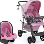 Kit Travel System Ibiza Burigotto com carrinho e cadeirinha de bebê
