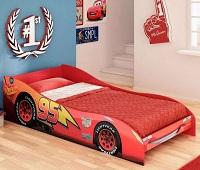 Mini Cama vermelha tema Carros Disney
