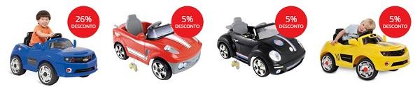 Mini veículos infantis em promoção