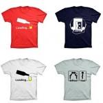 Camisetas personalizadas com estampas criativas em promoção