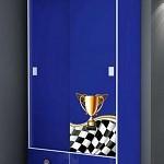 Guarda-Roupa Infantil Menino Racing 2 Portas 2 Gavetas Azul