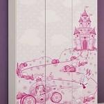Guarda-Roupa Infantil Menina 3 Portas Branco e Rosa Kappesberg