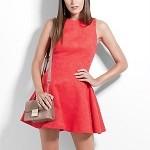 Vestido feminino Colcci Vermelho Evasê