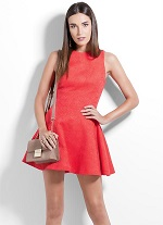 Vestido feminono Colcci Vermelho Evasê