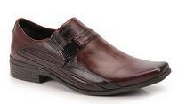 Sapato Social masculino couro Ferracini Frankfurt cor Café