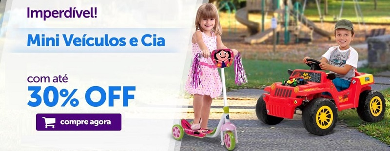 Mini Veículos infantis em promoção imperdível
