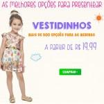 Promoção de vestidos infantis para meninas com descontos exclusivos