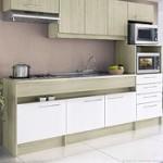 Cozinha Compacta 8 portas e 4 gavetas modelo Open Bali/Branco Decibal