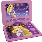 DVD player portátil infantil Tectoy Rapunzel Tela 7 Conexão USB MP3 Ripping