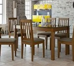 Conjunto de Mesa 6 Cadeiras Tâmara Imbuia & Capuccino