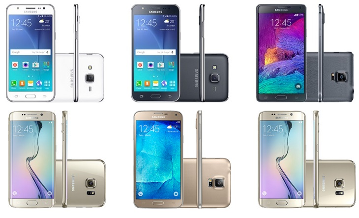 Promoção de Smartphones Samsung Galaxy com preços especiais