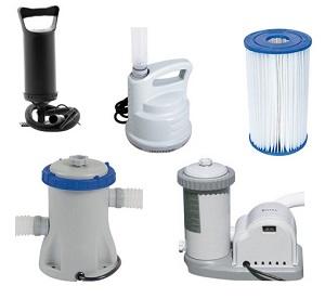 Promoção de Kits e acessórios para manutenção e tratamento de piscinas:  filtros, bombas, refil e muitos outros!