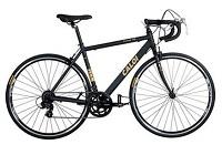 Bicicleta Caloi 10 - A14 Aro700, Câmbio Shimano Torney, Quadro Alumínio 6061, Pedivela Shimano Torney - Preto e Dourada