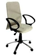 Cadeira de escritório Tela Suede cromada mod Presidente