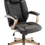 Cadeira de escritório Nylon e couro Catalunha preta