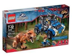 Lego ref 75918 Jurassic World T-rex Tracker Marrom Único com 520 peças