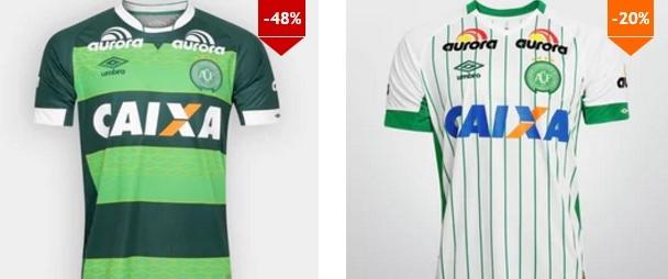 Camisa oficial Umbro Chapecoense iii 2015 em promoção