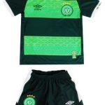 Kit Umbro Camisa e Calção Chapecoense III infantil em promoção