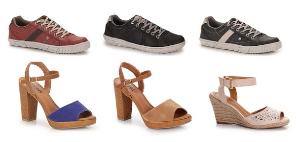 Super Promoção Calçados femininos e masculinos com até 40% desconto