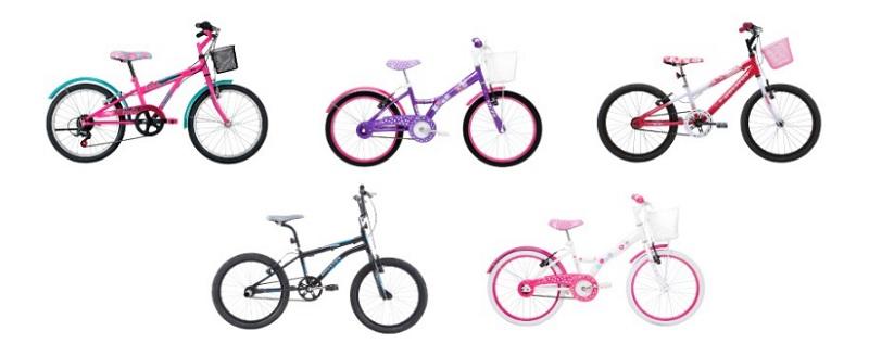 Bicicletas infantis na promoção com desconto especial