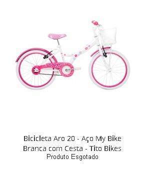 Bicicleta Aro 20 - Aço My Bike Branca com Cesta - Tito Bikes