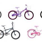 Bicicleta menina branca e rosa aro 20 My Bike com Cestinha e banda branca