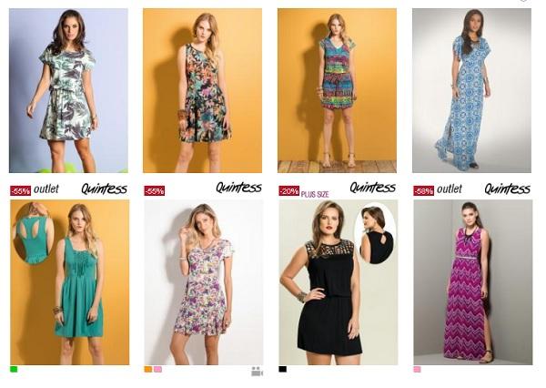Promoção de Vestidos Moda Posthaus diversos preços e tamanhos em destaque