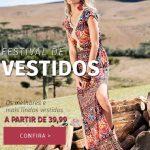 Promoção Festival de Vestidos Quintess diversos modelos e estilos