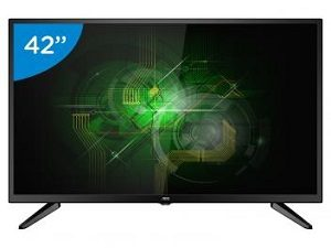 TV LED 42 polegadas AOC Full HD com Conversor Digital e 3 HDMI Bivolt