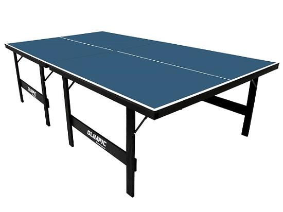 Mesa Oficial para Tênis de Mesa 12mm Olimpic – c/ Pés em Madeira Maciça e Dobráveis