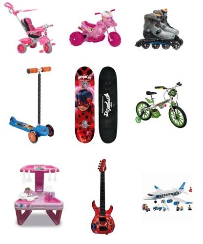 Dicas presentes Dia das Crianças bicicletas, patins, patinetes e skates